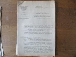 ETAT FRANCAIS LILLE LE 30 JUILLET 1942 LE PREFET DELEGUE DARROUY CIRCULAIRE RATIONNEMENT DU TEXTILE 32 PAGES - Historische Documenten