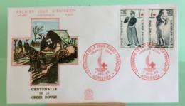 Centenaire De La Croix Rouge (n°477)- Bordeaux- 7.12.1963 -FDC 1er Jour Coté 5€ - FDC