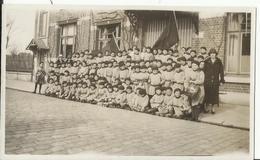 """Wenduine - De Haan (Le Coq)  Schoolkolonie Uit 1926 Ingericht Door De Kran """"Le Soir"""" Colonie Scolaire Foto 12.5 X 7.5 Cm - Wenduine"""