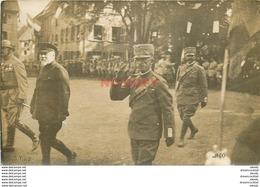 WW MILITAIRES. La Visite Du Roi D'Italie En Alsace. Rare Photo Carte Postale Impeccable Et Vierge - Royal Families