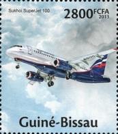 Guinea Bissau Russia Aviation Sukhoi SuperJet Plane 1v Stamp Michel:6729 - Famous People