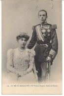 SS  D.ALPHONSO XIII EN MM VICTORIA EUGENIE KONINGSHUIS VAN SPANJE - Familles Royales