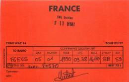 CARTE QSL : RADIO AMATEUR . MONTREUIL SUR EPTE . FRANCE . 1990 . - Radio Amateur