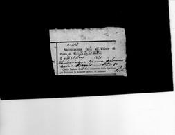 CG8 -  Cannobio  - Bollo Lineare Nero I° Tipo Su Ricevuta Per Assicurazione Lettera 13/7/1831 - Italy