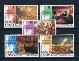Samoa 1976 200 Jahre Vereinigte Staaten Mi.Nr. 328/32 Kpl. Satz ** - Samoa (Staat)