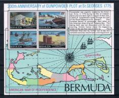 Bermuda 1975 200 Jahre Vereinigte Staaten Block 3 ** - Bermuda