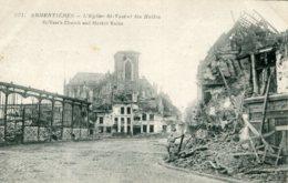 FRANCE - Armentieres - World War One (La Guerre) - L'Engise St-Vastet Les Halles - Guerre 1914-18