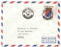 Madagascar Lettre Avion Diégo-Suarez 1967 Blason - Madagascar (1889-1960)