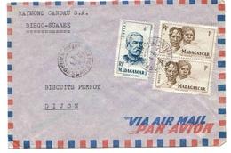 Madagascar Lettre Avion Diégo-Suarez 1967 Duchesne Type Sakalave - Madagascar (1889-1960)