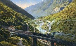 SWITZERLAND - Giornico. L Lacci Della Ferrovia Del Gottardo - Good Railway View Etc - TI Tessin