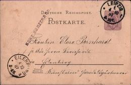 ! 2 Ganzsachen Deutsches Reich Aus Leipzig Und Göttingen Nach Eilenburg Gelaufen, 1887, 1895 - Allemagne