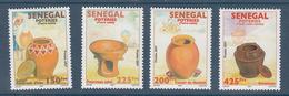 2007 2011 Senegal Pottery Poteries Complete Set Of 4 MNH  DIFFICULT - Senegal (1960-...)