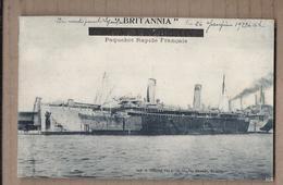 CPA BÂTEAU PAQUEBOT - BRITANNIA - Paquebot Rapide Français - TB PLAN NAVIRE - Steamers