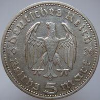 LaZooRo: Germany 5 Mark 1936 A XF Hindenburg - Silver - [ 4] 1933-1945: Drittes Reich
