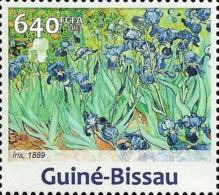 Guinea Bissau Irises Painting Vincent Van Gogh 1v Stamp Michel:6603 - Célébrités
