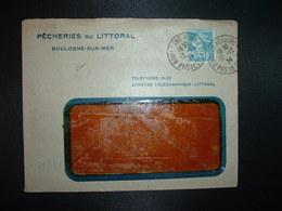 LETTRE TP SEMEUSE 25c OBL. DAGUIN 12-12 24 BOULOGNE S/MER PAS DE CALAIS (62) PECHERIES DU LITTORAL - 1921-1960: Modern Period