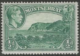 Montserrat. 1938-48 KGVI. ½d MH. P14 SG 101a - Montserrat