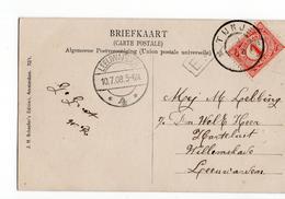 Tijnje Grootrond - Leeuwarden Langebalk 4 - 1908 - Postal History
