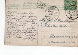 Bussum Langebalk 3 - Groningen Delfzijl IV Grootrond - 1907 - Postal History