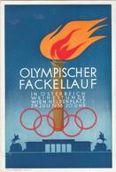 """Österreich,  """" OLYMPISCHER FACKELLAUF 1936  """" Sonderstempel - Olympische Spiele"""