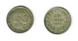 NEDERLAND - 10 CENTS - 1882 - ARGENT 640/1000 1,4 G - [ 8] Monedas En Oro Y Plata