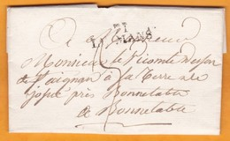 1823 - Marque Postale 71 LE MANS Sur Lettre Pliée Avec Correspondance Vers Bonnétable - 1801-1848: Précurseurs XIX