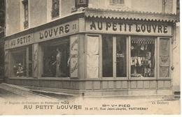 """CPA 79 - PARTHENAY Mme Vve PIED Rue Jean Jaures """" AU PETIT LOUVRE """" - Parthenay"""