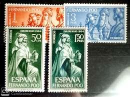 Fernando Poo N 235/238. Sin Charnela. - Fernando Po