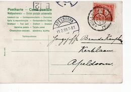 Apeldoorn Langebalk - Zwolle Enschede IV Grootrond - 1909 - Postal History