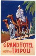ETICHETTA GRAND HOTEL TRIPOLI NORD AFRICA LABEL - Altri
