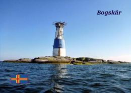 Aland Islands Bogskar Islets Lighthouse New Postcard Ålandinseln AK - Faros