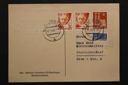 Deutschland, 2 Pf Wohnungsbauabgabe (gezähnt) Auf Postkarte, 1949 - BRD