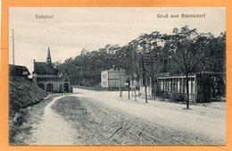 Gruss Aus Rahnsdorf Bahnhof Germany 1907 Postcard - Treptow
