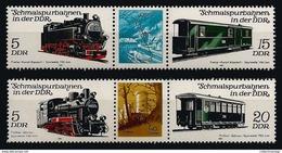 Germany DDR 1981 Trains MNH** C.V. 2,20 Euro - Trains