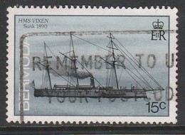 Bermuda 1986 Ships Wrecked On Bermuda 15 C Multicoloured SW 479 O Used - Bermuda