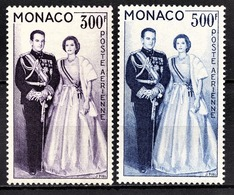 MONACO 1957 / 1959 / N° 71 ET 72  -  NEUFS** - Airmail