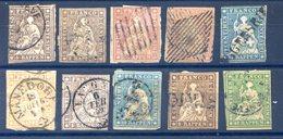 Suisse, Lot De 10 Classiques Oblitérés - Cote +340€ - (F754) - Gebraucht