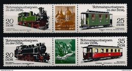 Germany DDR 1980 Trains MNH** C.V. 1,60 Euro - Trains