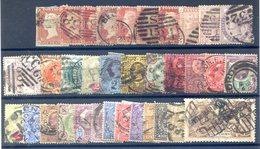Grande-Bretagne, Lot De Classiques Oblitérés - Cote +350€ - (F755) - 1840-1901 (Viktoria)