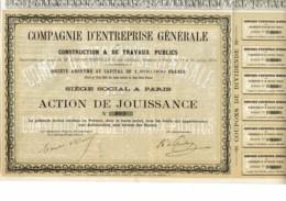 75-ENTREPRISE GENERALE DE CONSTRUCTION & DE TRAVAUX PUBLICS.  1879 - Shareholdings
