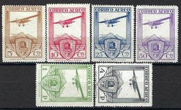 Europe - Espagne - Poste Aérienne N° 50 à 55 * - Neufs