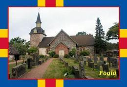 Aland Islands Foglo Church New Postcard Ålandinseln AK - Eglises Et Cathédrales