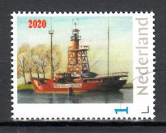 """Vuurtoren, Lighthouse : Nederland  2020 Lichtschip Nr 12 """"Noord Hinder"""" Te Hellevoetsluis - Phares"""