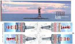 Aland 2008 Lighthouses, Mi 296-299 Booklet MH 16 MNH(**) - Aland