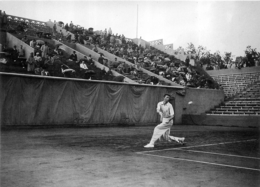 ROLAND GARROS 1938 DONALD BUDGE PHOTO 17 X 12 CM TIRAGE DU JOURNAL L'EQUIPE - Tennis