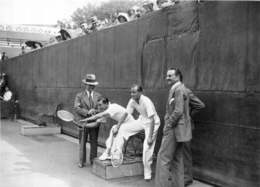ROLAND GARROS 1933 LES JUGES DE LIGNE  PHOTO 17 X 12 CM TIRAGE DU JOURNAL L'EQUIPE - Tennis