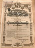 Etat De Maranhao Emprunt Extérieur 5% Or 1910 (Etats-Unis Du Bresil) - Non Classés