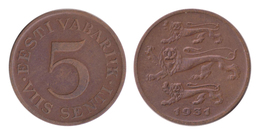 Estonia / 1931 / 5 SentI / Km: 11 / VF - Estland