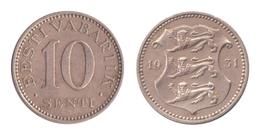 Estonia / 1931 / 10 SentI / Km: 12 / VF - Estland
