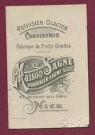 040220C - PUBLICITE Fabrique 06 NICE 41 Avenue De La Gare Patissier Glacier CONFISERIE Fruit Confit Maison SAGNE - Old Professions